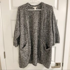 "Forever 21 ""Salt & Pepper"" Cardigan"